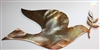 Dove and Olive Branch Metal Wall Art Copper/Bronze Plated