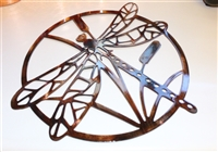 Dragonfly Metal Wall Art Circle