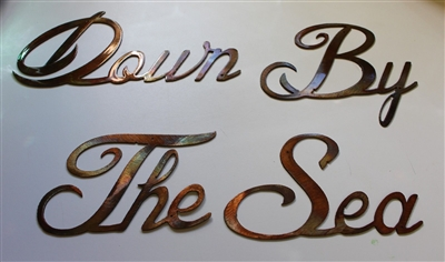 'Down by the Sea' Metal Wall Art