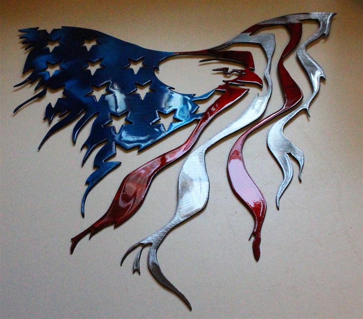 Eagle Flag Metal Wall Art