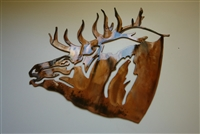 Elk Head Metal Wall Art
