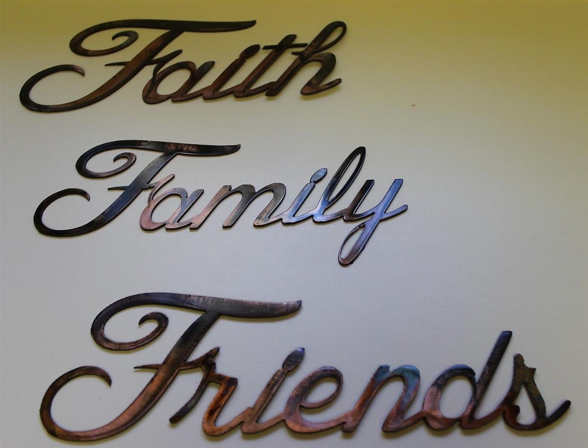 Faith family friends metal art words faith family friends metal art words publicscrutiny Choice Image