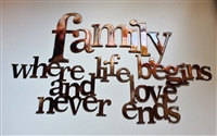 Family where love begins ad love never ends