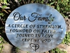 Our Family a Circle of Strength Metal Art Decor