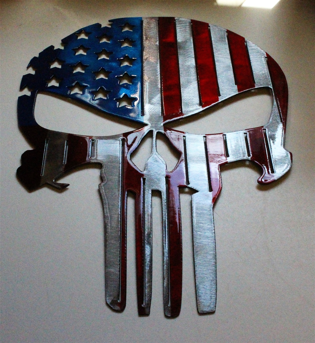 Tall Metal Wall Art Flagpunisher2