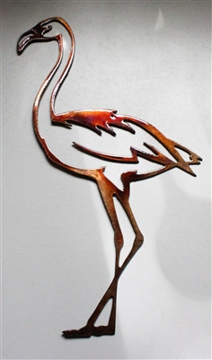 Flamingo Metal Wall Art Accent