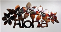 Floral Aloha Metal Wall Art
