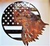 Home of the Free because of the Brave Eagle Metal Art