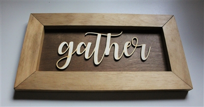 Gather Wood  Laser cut 3d Home Decor