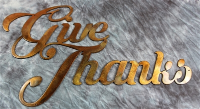 Give Thanks Metal Art
