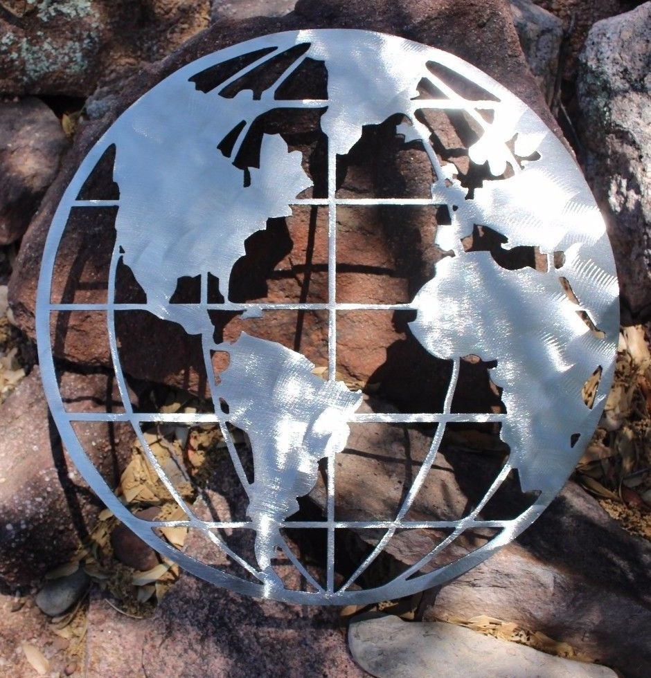 Email metal art world globe map gumiabroncs Gallery