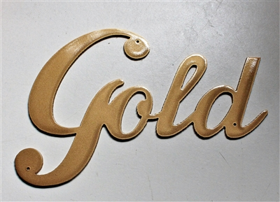 Gold Metal Wall Word Accent