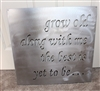 'Grow Old Along with me' Metal Wall Decor