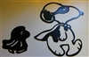 Halloween Snoopy & Woodstock Duo Metal Art