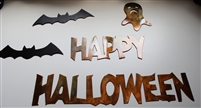 Happy Halloween Metal Wall Art Decor Ensemble
