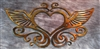 Ornamental Heart & Wings Metal Wall Decor
