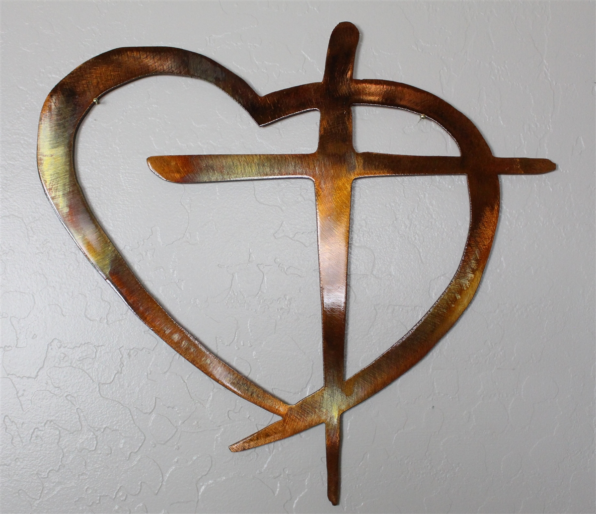 Well-liked Heart & Cross Metal Wall Art Decor KT72