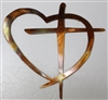 Heart & Cross Metal Wall Art Decor MINI