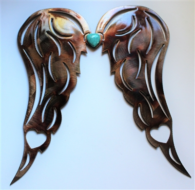 Heart Wings Copper/Turquoise