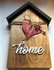 Small House Wood Decor Home with Heart and Key