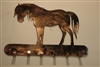 Western Equestrian Key Rack - Copper/Bronze