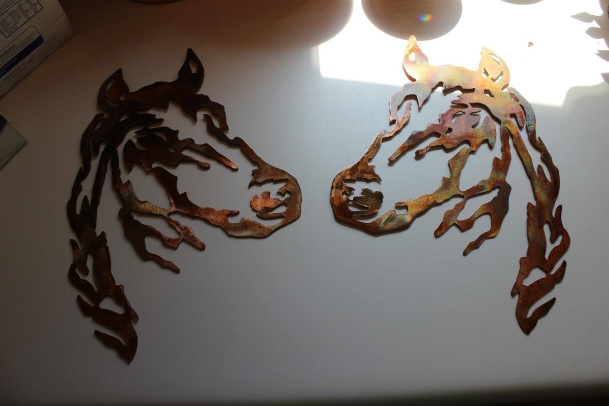 Horse head pair metal wall art amipublicfo Gallery