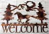 Running Horse Welcome Sign