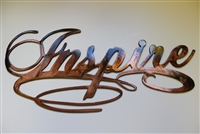 """Inspire"" Metal Wall Art Decor"