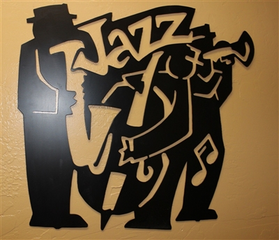 Jazz Playing Metal Wall Art