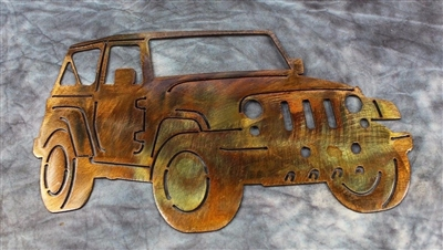 Jeep Metal Wall Art