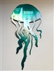Jellyfish Metal Wall Art Accent
