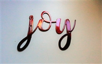 joy metal wall art accent