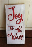 Joy to the World Pallet Wood Re purposed Sign