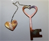 Key to my Heart w/ Chained Heart Metal Art Decor