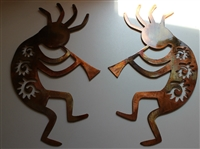 "Arizona Kokopelli Set of 2 (12"") Metal Wall Art"
