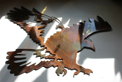 """Landing Hawk"" Metal Wall Art piece from HGMW"