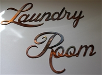 Laundry Room Metal Wall Art Decor