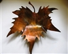 Sculpted Metal Leaf bowl/candle holder copper/bronze plated