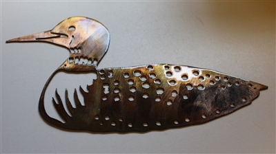 Floating Loon Metal Wall Art