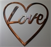 """Love"" in Heart Metal Wall Art"
