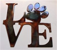Love My Pet Metal Wall Art