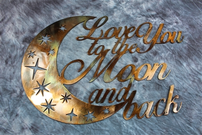 Love You to the Moon and Back Metal Wall Decor