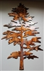 Majestic Pine Tree Metal Wall Art Decor
