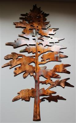 Majestic Pine Tree Metal Wall Art Decor