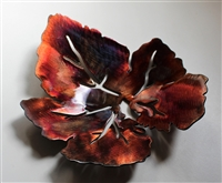 Metal Leaf Bowl