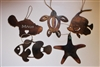 Maui Metal Art Ornaments Set of 5