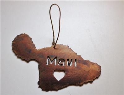 - Maui Metal Art Ornaments Set Of 5
