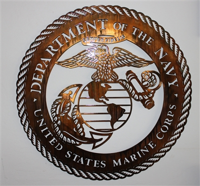 "Military Logo #10 Metal Wall Art (30"")"