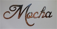 """Mocha"" Metal Coffee Word Art Decor"