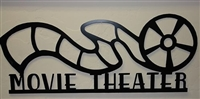"Movie Theater Reel Sign ""24 Metal Wall Art Decor"